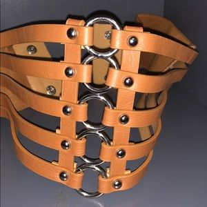 Accessories - Brown Belt - Elastic Button Closure